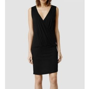All Saints Kerin Dress Black Sleeveless
